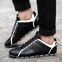 awesome casual shoes - Awesome Grids Synthetic Leather Casual Shoes for Men Pure Color Leisure Shoe Price Hot Sale