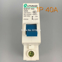 Wholesale CE mark P DZ47 A DIN Rail V HZ HZ Mini Circuit breaker MCB C45 C type
