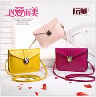 Wholesale Womens Mini Phone Bags PU Leather Retro Purse Lady Handbag Tote Shoulder HandBags Student s Cross Body Casual Bags Free ship