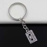 antique men s ring - Fashion diameter mm Key Ring Metal Key Chain Keychain Jewelry Antique Silver Plated retro s cassette tape mm Pendant