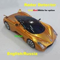 audio alert - New Arrival Alloy Metal Car Radar Detectors Laser Anti Radar in LED Display English Russia Audio Alert Hong Post