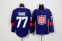 apparel world - 2016 World Cup of Hockey T J Oshie USA Team Men s Hockey Jerseys Blue Athletic Outdoor Apparel Stitched Name number Size M XXXL