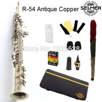Wholesale EMS Genuine France Selmer Soprano Saxophone Professional B Copper Sax mouthpiece With Case and Accessories