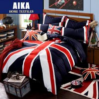 bedding for teens - British American flag bedding set duvet cover set Union Jack bedclothes bedlinen cotton for teens boys and girls