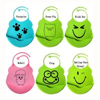 Wholesale Waterproof Bibs Infant Baby Silicone Feeding Saliva Towel Kid Washable BB Bib Crumb Catcher Cartoon Silica Gel ZA0245
