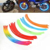 Wholesale 16pcs Motorcycle Wheel Tape Motorbike Rim Stripe Sticker Colors