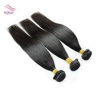 Virgin Peruvian Remy Hair Bundles Natrural Color 3Pcs / Lot Straight Human Hair Weaves Indian Brazilian Brazilian Malais Extensions de cheveux 8-30 pouces