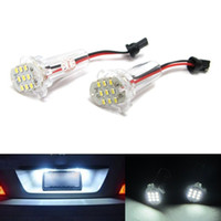 auto accessories toyota corolla - 2pcs LED Error Free Number License Plate Light Bulbs Auto Lamps Car Accessories Fit For Toyota Alphard Corolla Atis ist wish