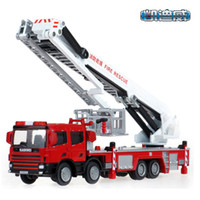 toy fire truck - Model Cars Diecast Car Model Fire Engine Toy Trucks Trailers Alloy Car Glow LED Car Kids Toys Gift Items Cars