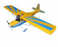 balsa rc plane - Yellow Decathlon quot Glow Electric model Plane Channels ARF RC Balsa Wood Airplane