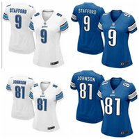authentic lions jersey - 2016 hot sale women football Jerseys Stafford cheap Detroit nice Lions rugby jerseys elite authentic football jerseys size S XL