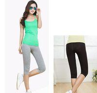 absolute leg - Plus Size Ladies Girls Solid Running Legging Modal Material Length Women s Absolute Capri Leggings Colors