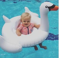 Wholesale INS About cm Giant Swan Inflatable Flamingo Float New Swan Inflatable Floats Swimming Ring Raft Swimming Pool Toys For Kids K7594