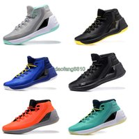 Wholesale 2016 New Arrival Curry official Version Basketball Shoes for High quality With Carbon Fiber One Stephen III Sports Sneakers Size