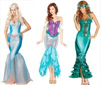 beautiful carnival - Beautiful Mermaid Performing Dress Hand made Fancy Party Dress Halloween Carnival Supply Adult Size