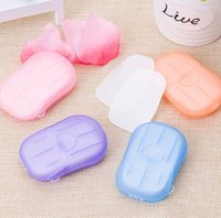 beautiful washing - 2016 new Beautiful wedding gifts Washing Hand Bath Travel Scented Slice Sheets Foaming Box Paper Soap fast shipping JF