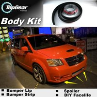 Wholesale Bumper Lip Lips For Dodge Caravan Ram C V Tradesman Front Skirt Deflector Spoiler For Car Tuning The Stig Recommend Body Kit Strip
