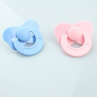 Wholesale Dolls Accessories set Tiny Pacifier Dummy For Reborn Baby Dolls Pink Blue Color Not Magnet Babies Pacifier