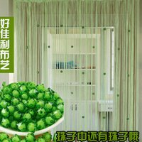 Wholesale Crystal bead curtain encrypted partition line window curtain shade water bead curtain door curtain wind wedding decoration Sheer Curtains