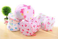 Wholesale Washing Bra Bag Laundry Underwear Lingerie Saver Mesh Wash Basket Aid Net New Random Color