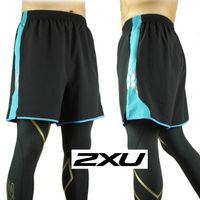 basketball shorts boys - 2016 new Men s boy Compression X Run Short Joggers basketball Trousers XU unisex brand Active training shorts gym outdoor sports Blue