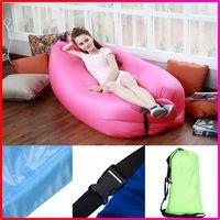 Cheap Outdoor Fast Inflatable Laybag Sleeping Bag Hangout Lounger Air Camping Sofa Beach Lasy sleep Bed Chair