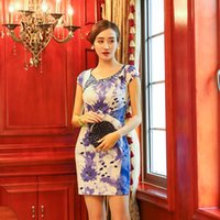 Wholesale 2016 new fashion women s ethnic clothing chinese style vintage sexy embroidery cheongsam Embroidery flowers over size on sale
