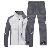 Wholesale 2016 New Tracksuits Sportswear Mens Hoodies And Sweatshirts Outdoor Jackets Mens Tracksuit Sport Suit Sportswear Pants Sets