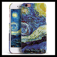 For Apple iPhone abstractionism painting - Abstractionism Art Phone Case For Apple iPhone Floral Vincent Van Gogh Starry Sky Oil Painting Design For Iphone S SE s plus