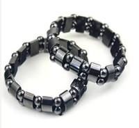 Wholesale Black Magnetic Hematite Beads Bracelets Fashion Black Magnetic Hematite Beads Bracelet for men women Beads Bracelets