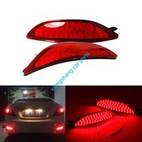 accent park - 2x Red lens LED Rear bumper reflector light tail brake Parking Warning lamp fog lights fit for Hyundai accent