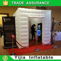 Wholesale free ship by DHL ft lighting white portable photo booth