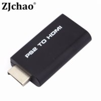 Wholesale Mini PS2 Ypbpr Input to HDMI Video Converter Adapter with mm Audio Output for HDTV