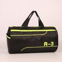 Wholesale 2016 High Quality Black Nylon Cylinder Hand Bags Women Mens Duffle Bag Travel Bag