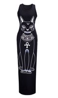 Wholesale Short Sleeve Cat Dress - 2016 dresses for womens animal cat stamp sexy fat high length of a wearing a dress 4 color 2 yards cheap costumes