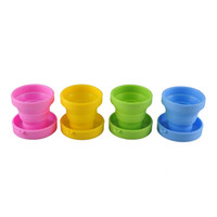Wholesale Hiking Walking Travel Portable Silicone Retractable Folding Telescopic Collapsible Cup Color New Arrival Outdoor Sport Cup