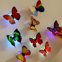 Wholesale Lifelike Butterfly LED Night Lights Wedding Party Room Decors lights Baby Night Light LED Christmas Holiday Gifts led Glowing lights