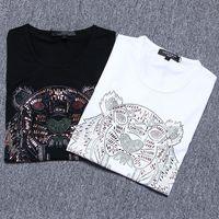 Wholesale Fashion brand tiger head tshirts O neck youth tshirt mens short Sleeve t shirts for men undershirt full cotton Harajuku casual t shirts