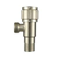 basin machine - Brushed Nickel Washing Machine Taps Small Single Cold Bibcock Bathroom Basin Faucet