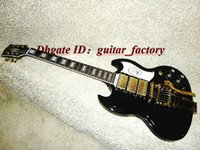 Wholesale NEW Custom Black White Electric Guitars pickups With tremolo system