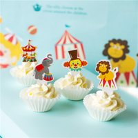 baby shower zoo animal - Lovely circus zoo animals cupcake toppers inserts cards food picks birthday wedding baby bridal shower Cake Accessories decorations
