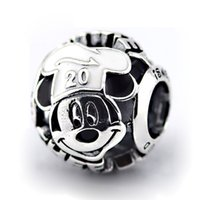 authentic international - Chef Mickey Mouse Charm Epcot International Food Sterling Silver Beads Fit Pandora Charms Bracelet Authentic DIY Fashion Jewelry