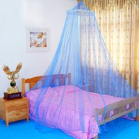 Wholesale New Summer White Netting Round Lace Hung Dome Princess Bed Home Canopy Mesh Bedding For Adult Students Mosquito Net For Girls Baby Bed