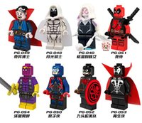 Wholesale NEW style Minifigures For Individual Single Sale Marvel Super Heroes The Avengers Deadpool Batman Building Blocks Model Bricks Toys