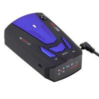Wholesale 1pc Anti Police Radar Detector Voice Alert Laser V7 LED Blue New