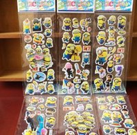Wholesale Sticker For Toilet - 2016 New Arrival Despicable me Minions Wall Stickers 3D Cartoon Christmas Father Big Hero little Pony paster Kindergarten Reward hot sale