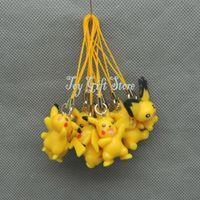 Wholesale EMS Set Pikachu PVC Action Figure Toy Pendant New cm