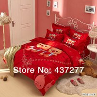 bear comforter set - Love baby bear romantic rose printing bedding set coverlets cotton full queen king reversible duvet cover comforter sets sheets