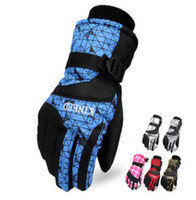 Wholesale Gloves Ski Gloves For Men Women Winter Gloves Non slip Wear Resisting Snowboard Motorcycle Bicycle Riding Windproof Waterproof Snow Gloves