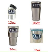 Wholesale 2016 oz oz oz oz YETI Rambler Colster Vacuum with lid Insulated Tumbler oz Yeti Mugs Insulated Stainless Steel